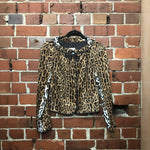 MOSCHINO faux fur leopard jacket
