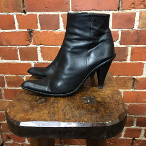 1990s leather boots 39