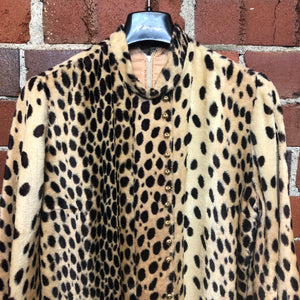 1960s Leopard Mod USA made mini dress