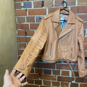 TRELISE COOPER thonged leather jacket