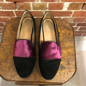 DRIES VAN NOTEN suede and velvet flats 39