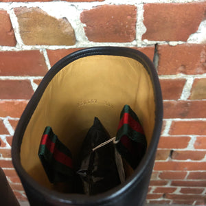 GUCCI horse bit riding boots 38.5