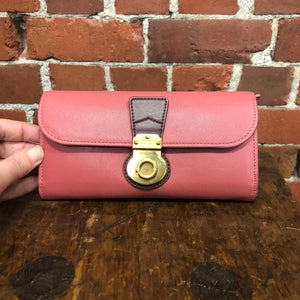 BURBERRY pink leather wallet