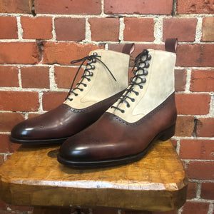EDWARD GREEN handmade English leather two tone boots