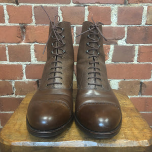 CARMINA Italian leather lace up boots