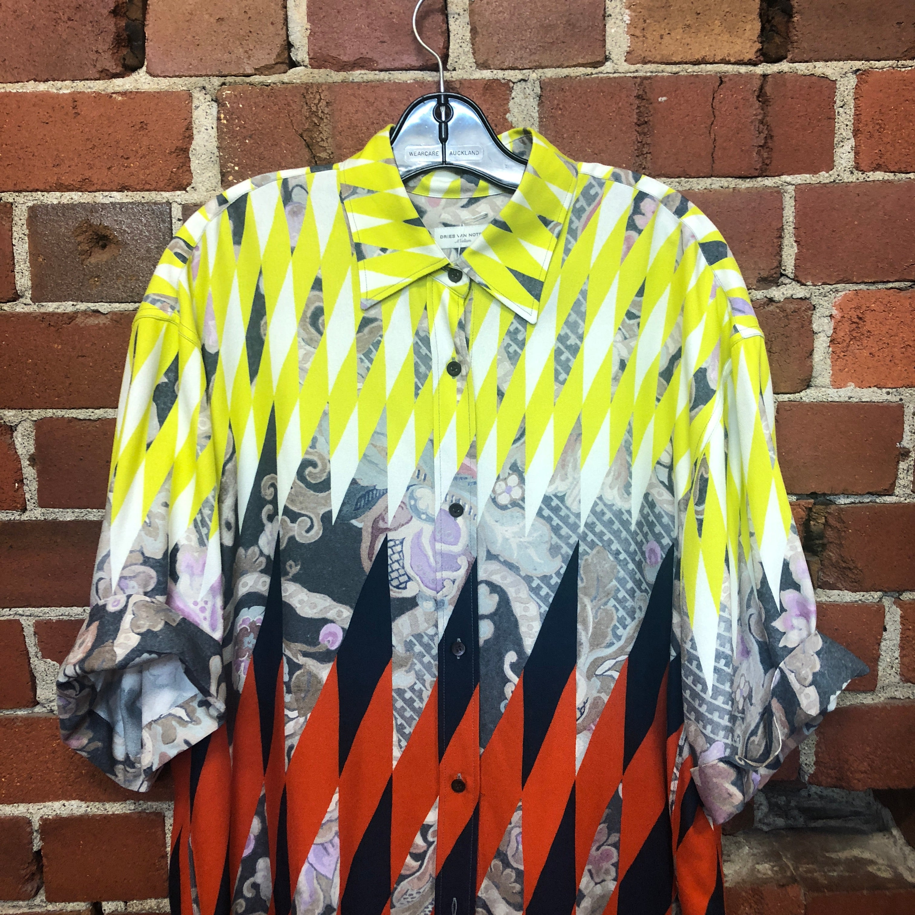 DRIES VAN NOTEN short sleeve patterned shirt