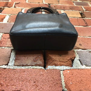 PRADA mini 1990s leather handbag with plastic handles