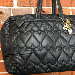 MOSCHINO large quilted hearts bag