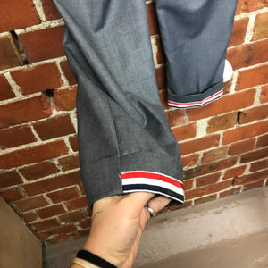 THOM BROWNE striped detail trousers