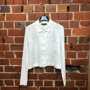 MARILYN SAINTY 1988 linen jacket shirt