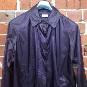 DRIES VAN NOTEN metallic nylon coat jacket