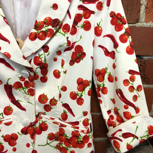 MOSCHINO chillies and tomatoes cotton summer jacket