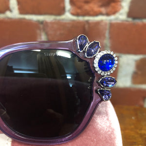 MIU MIU jewelled frame sunglasses