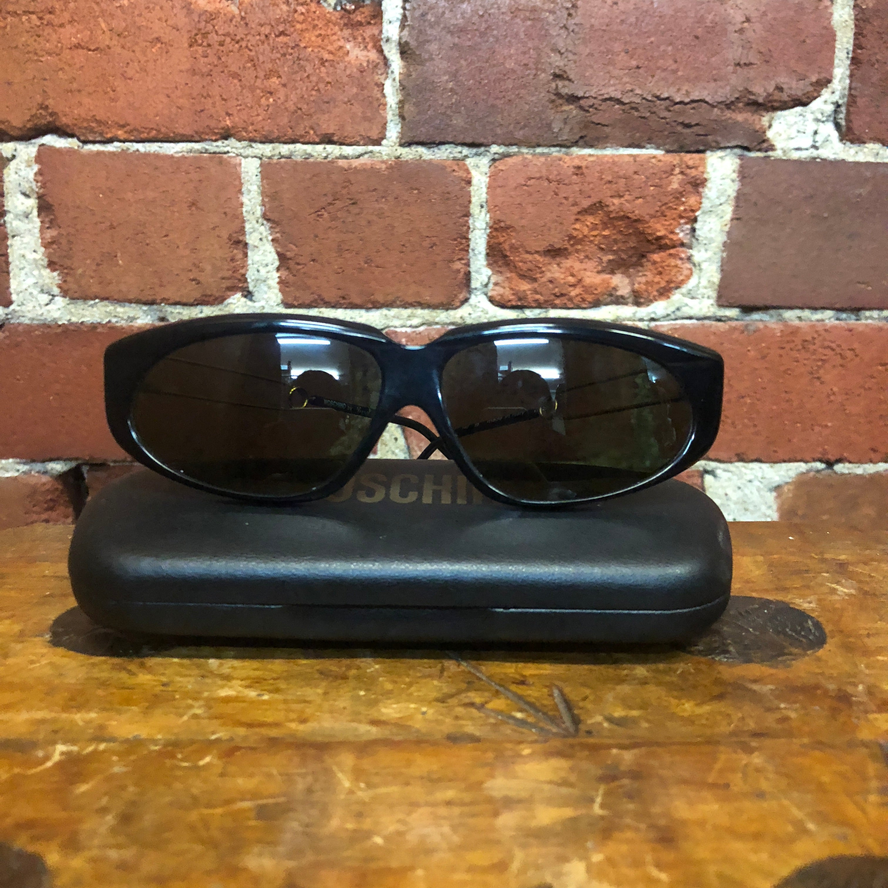 MOSCHINO by PERSOL 1980s rare safety pin side sunglasses