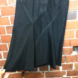 RICK OWENS waxed denim skirt