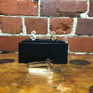 SWANK dollar sign 1970s cufflink set