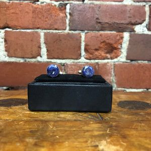 Sterling silver and lapis lazuli cufflinks