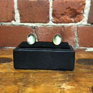 Sterling Silver and green stone cufflinks