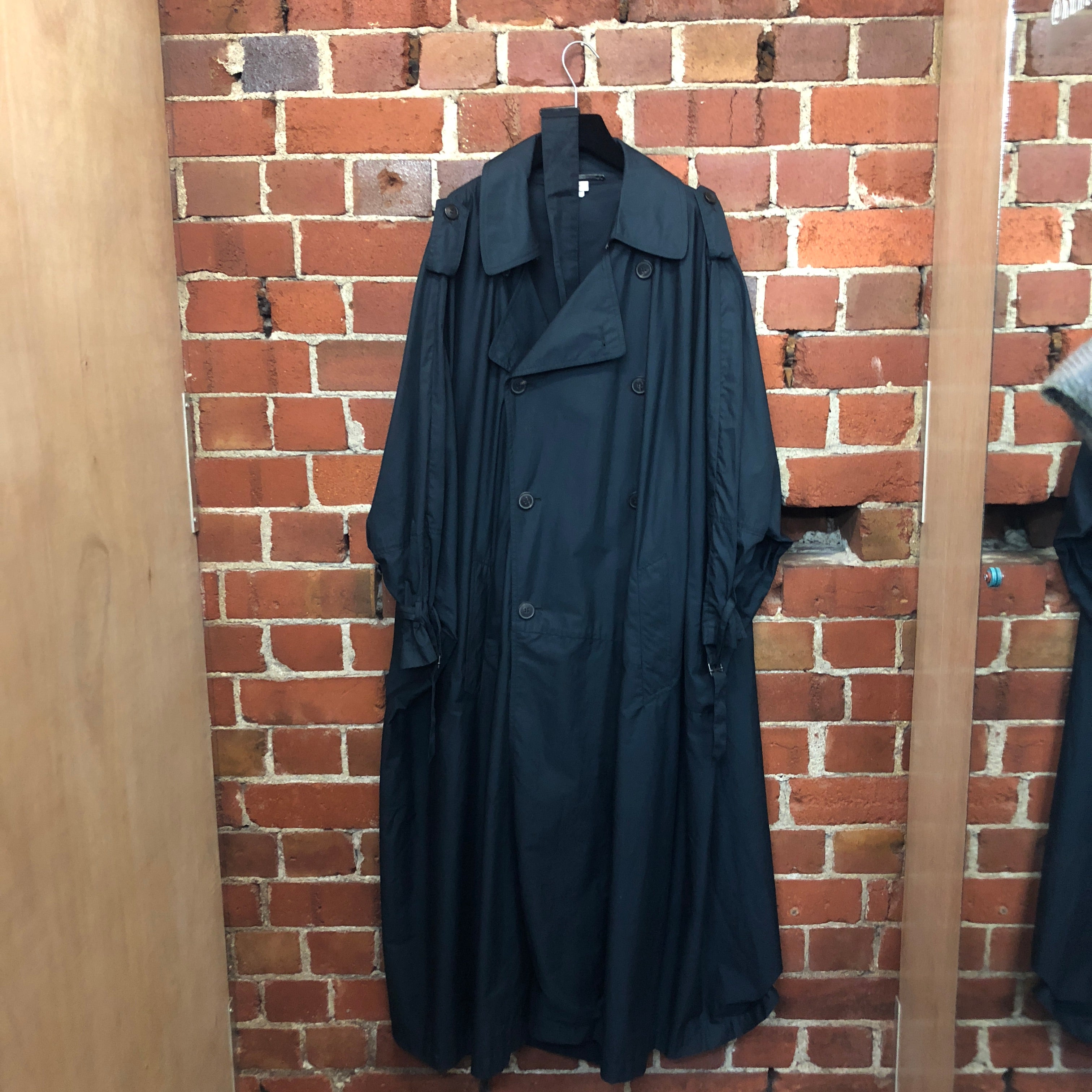 DRIES VAN NOTEN cotton oversized trench coat