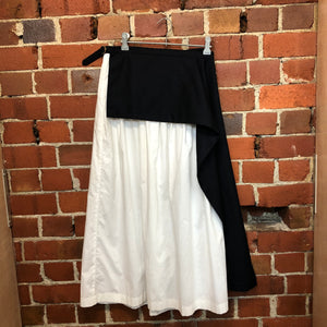 COMME des GARÇONS 1998 cotton and wool skirt