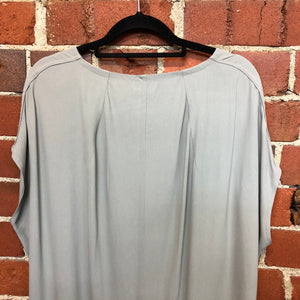 RICK OWENS relaxed fit crepe top