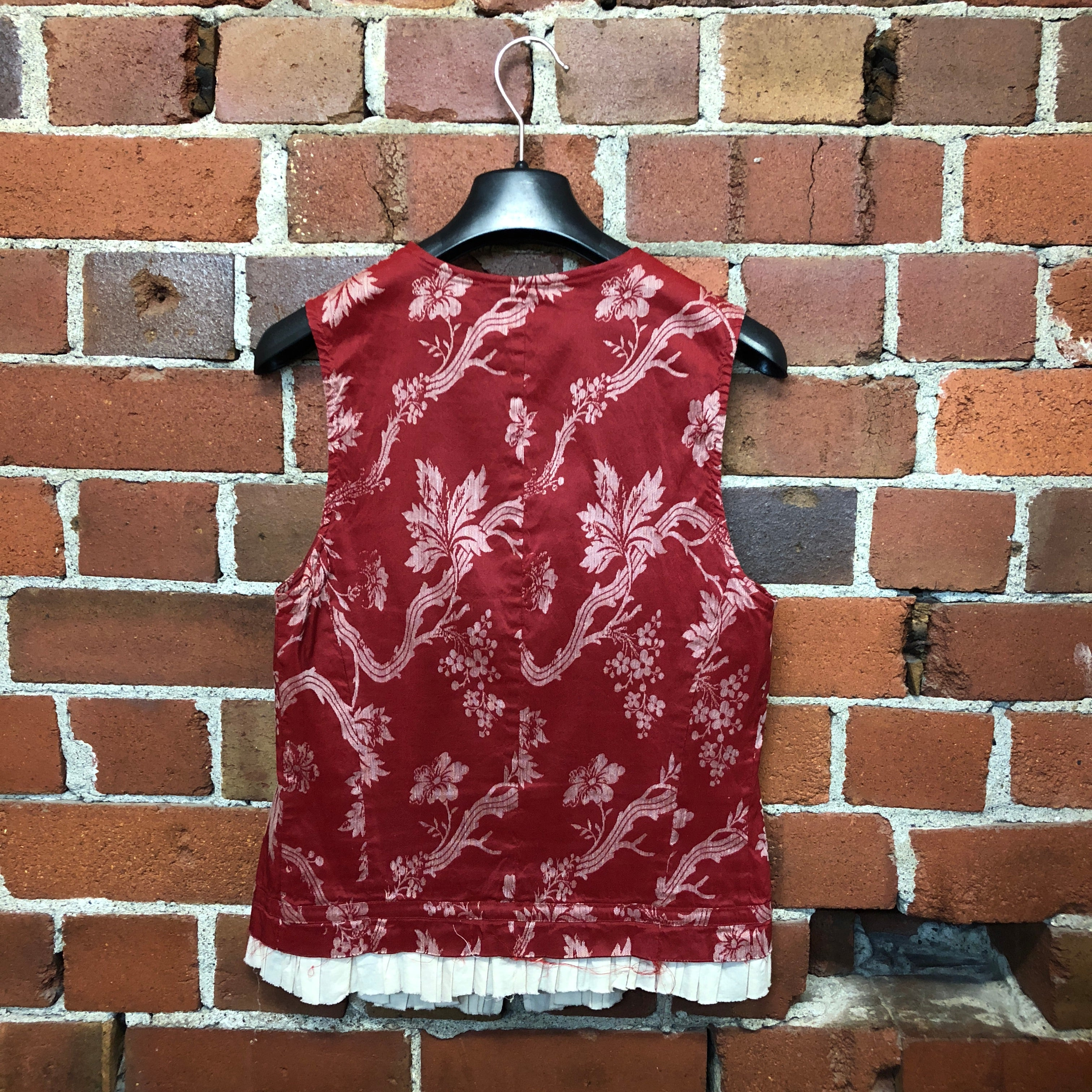 DRIES VAN NOTEN tapestry and frill vest top