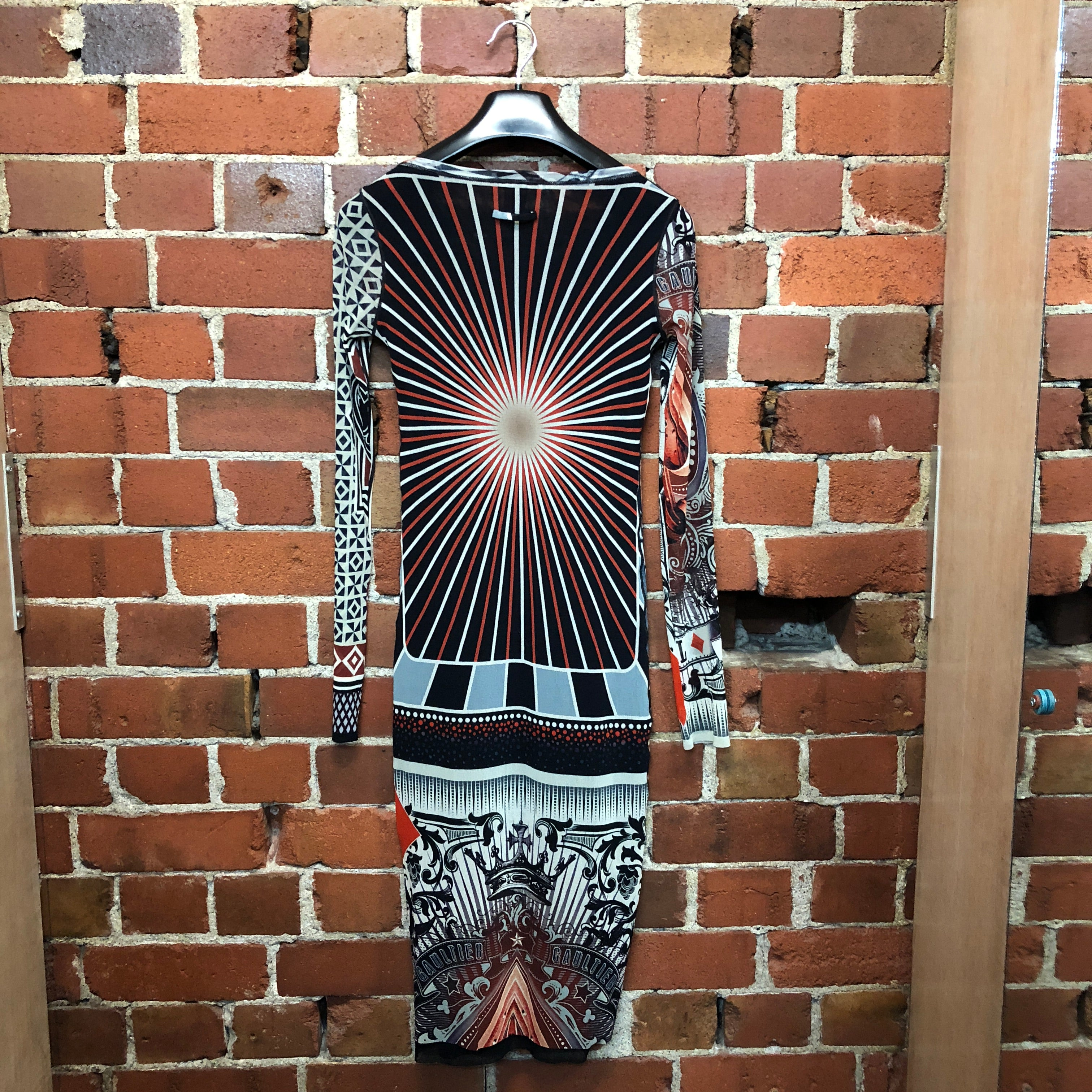 GAULTIER amazing patterned mesh dress
