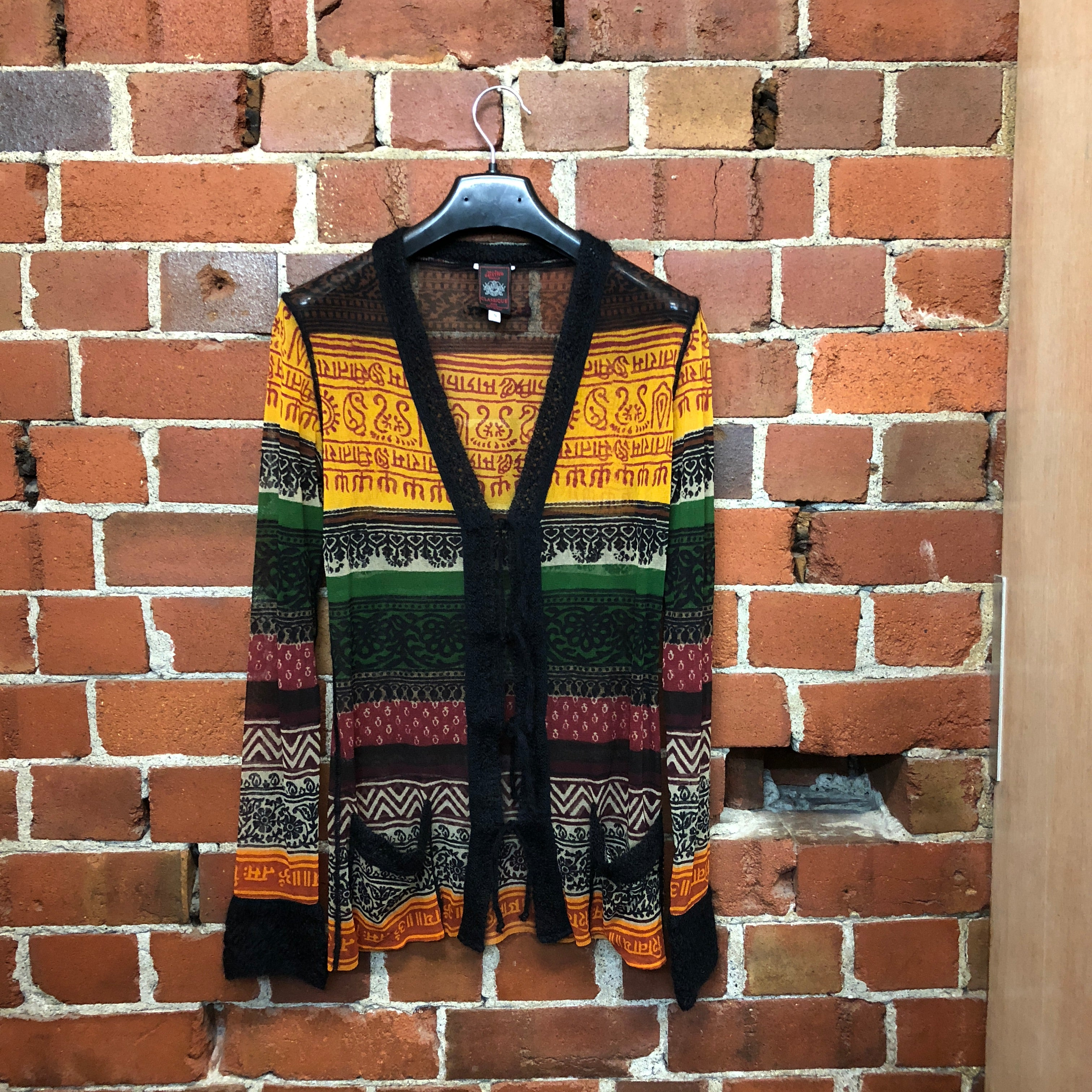GAULTIER tribal mid 1990's mohair cuffs cardi jacket