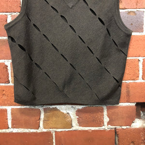 MOSCHINO slashed wool vest