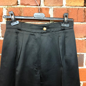 CHANEL polished cotton 1980's trousers