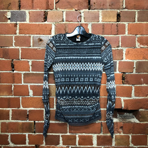 JEAN PAUL GAULTIER Fair Isle print mesh top