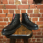 PRADA leather lace up boots