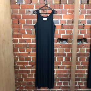 MARGIELA double layer nylon maxi gown dress