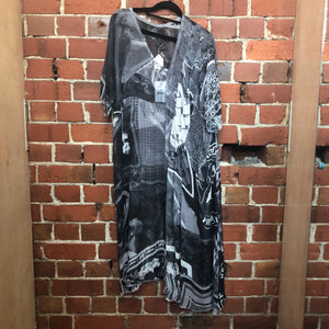 NOM-D silk scarf dress