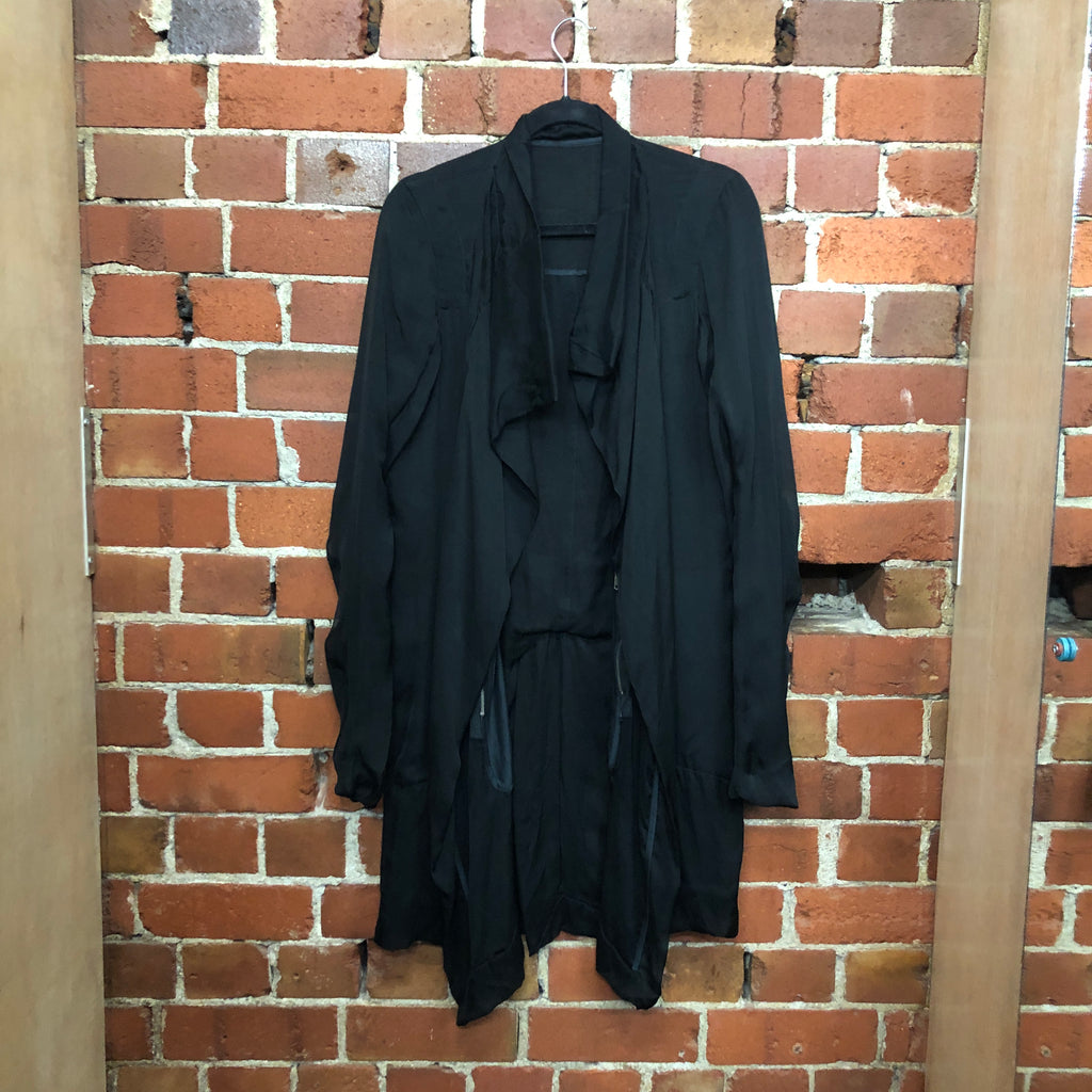 RICK OWENS double layer silk jacket