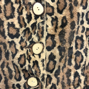 MOSCHINO 1980s faux fur leopard jacket