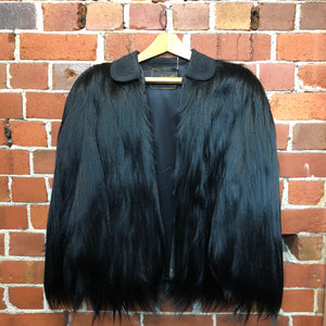 Exotic 1920's Monkey fur SAKS FIFTH AVE cape jacket