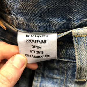 VETEMENTS X LEVIS  2 tone jeans