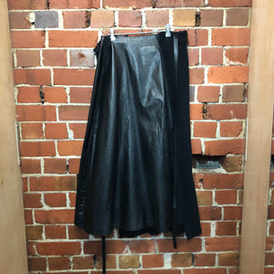 COMME des GARÇONS 2002 leather and wool wrap skirt