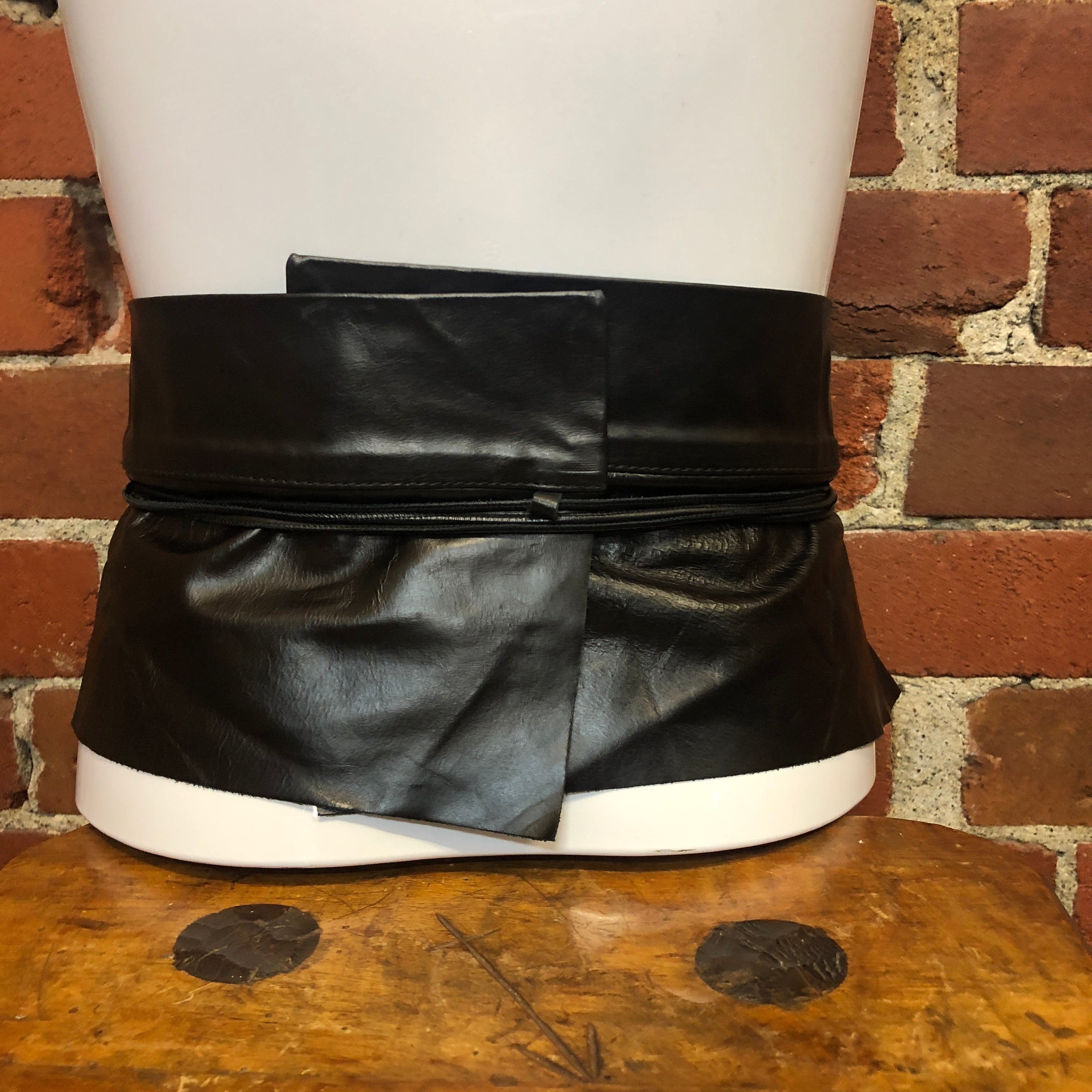 MARGIELA leather OBI belt