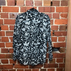 MOSCHINO 1980s patterned shirt