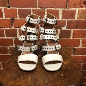 LAURENCE DECADE Parisian leather buckle sandals 38.5