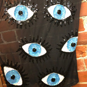 DISCOUNT UNIVERSE sequin eyes mesh dress!