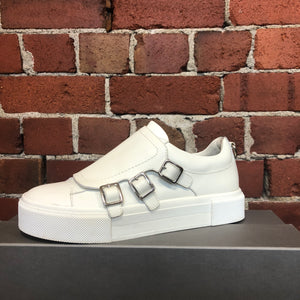 ALEXANDER MCQUEEN leather buckle creepers