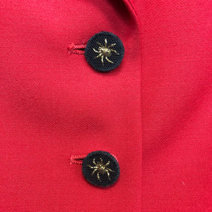 MOSCHINO spider buttons fine wool jacket