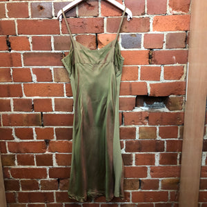 MARILYN SAINTY 1995 metallic slip dress and shirt
