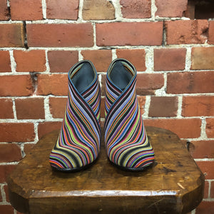UNITED NUDE striped fabric boots 38