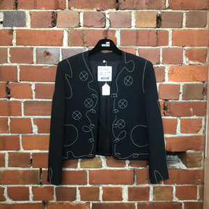 MOSCHINO 1990s stitched jacket