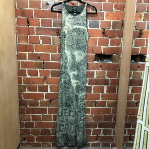 GAULTIER 1990s RARE amazing face print gown