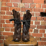 VIVIENNE WESTWOOD leather 'sack' boots 38
